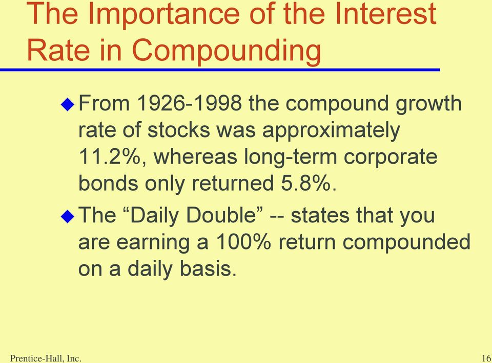2%, whereas long-term corporate bonds only returned 5.8%.