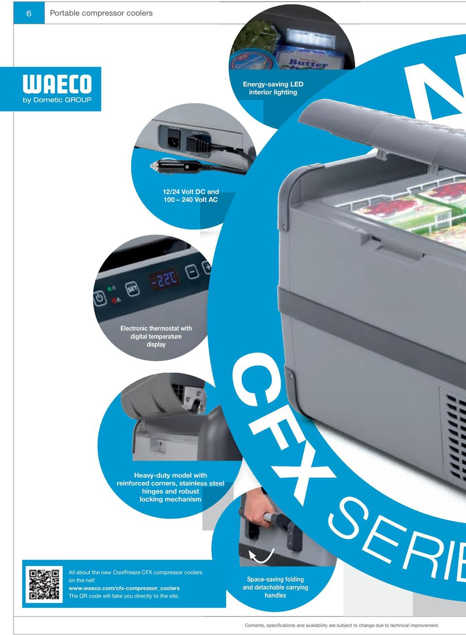 All about the new CoolFreeze CFX compressor coolers on the net! www.waeco.