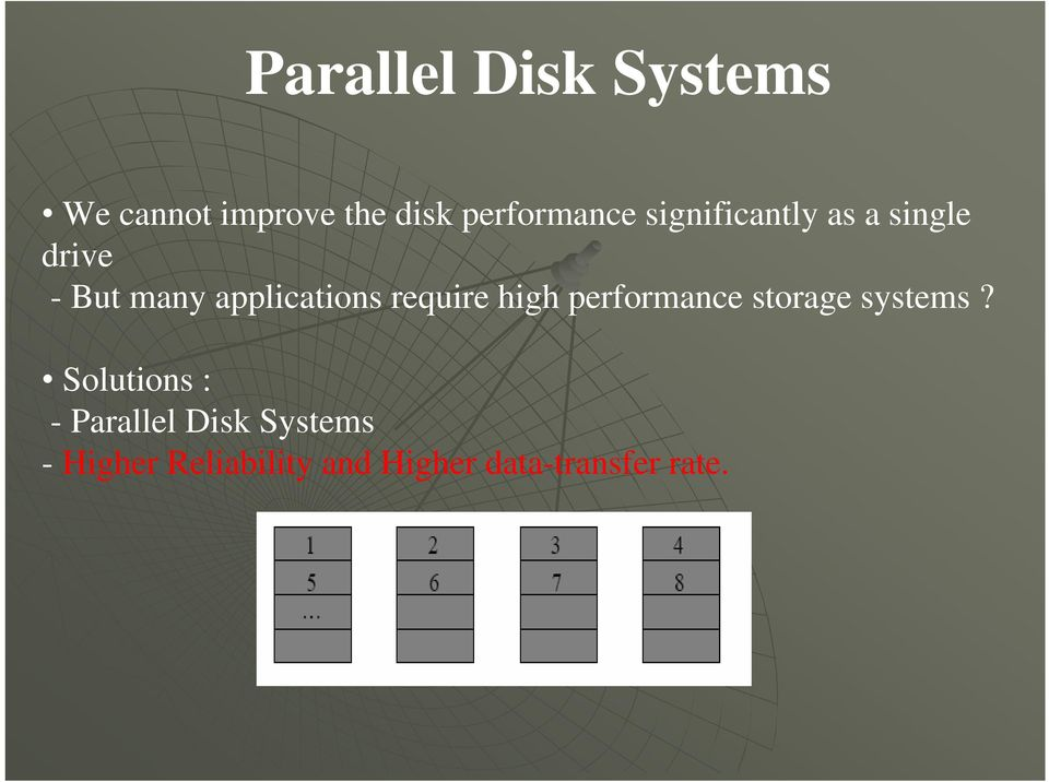 require high performance storage systems?