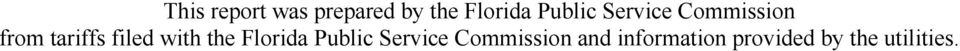 filed with the Florida Public Service