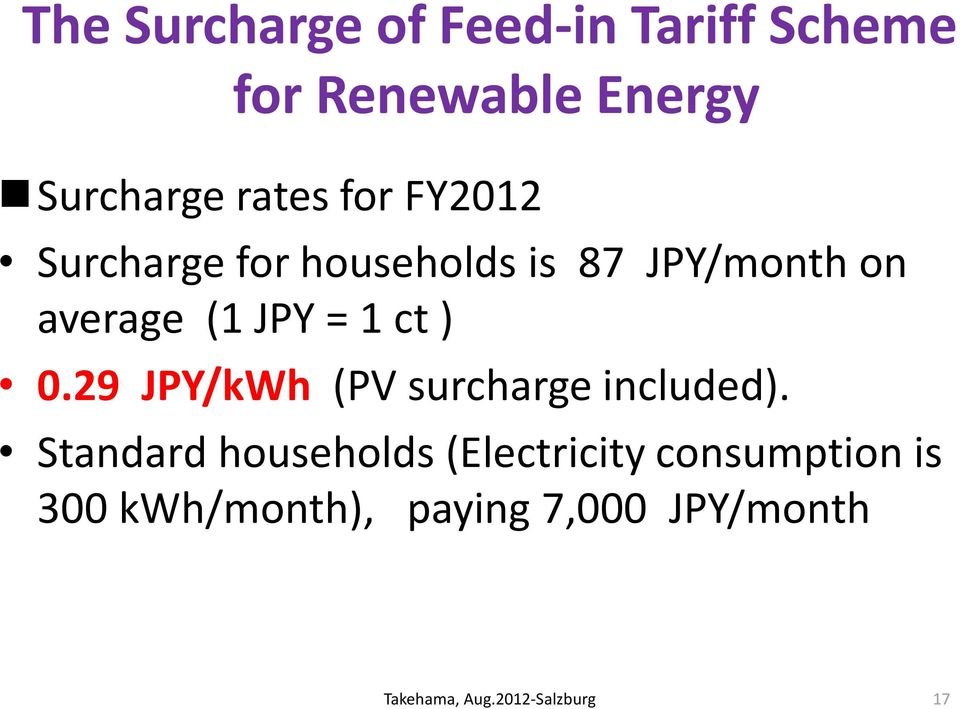 ) 0.29 JPY/kWh (PV surcharge included).