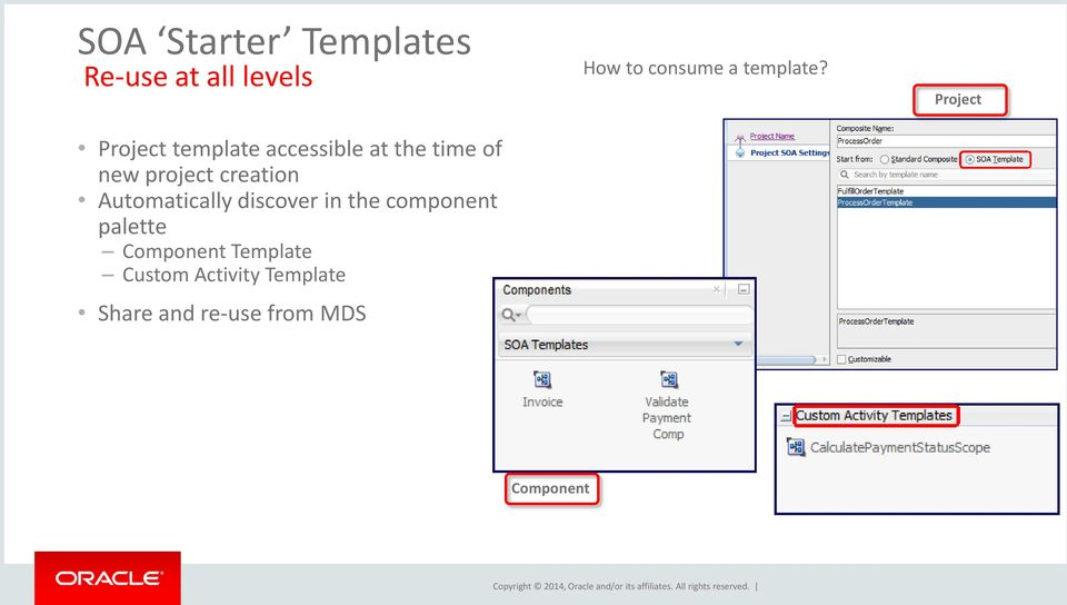 discover in the component palette Component Template Custom