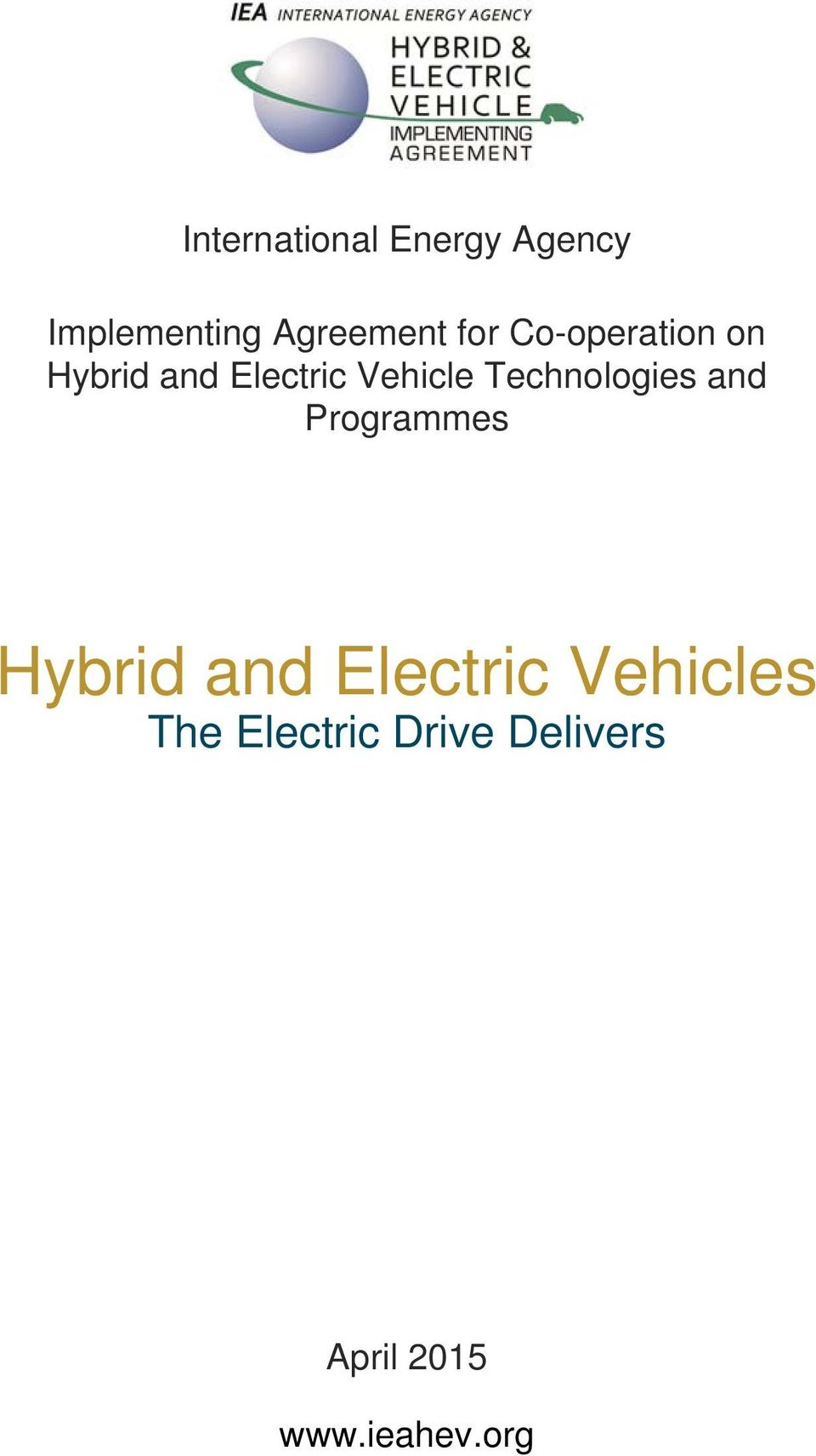 Technologies and Programmes Hybrid and Electric