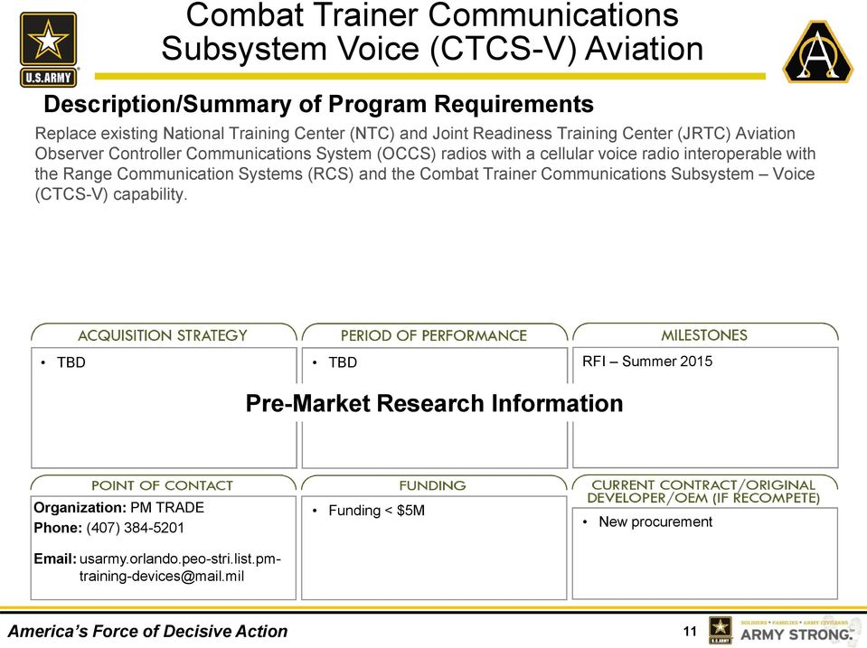 interoperable with the Range Communication Systems (RCS) and the Combat Trainer Communications Subsystem Voice (CTCS-V)