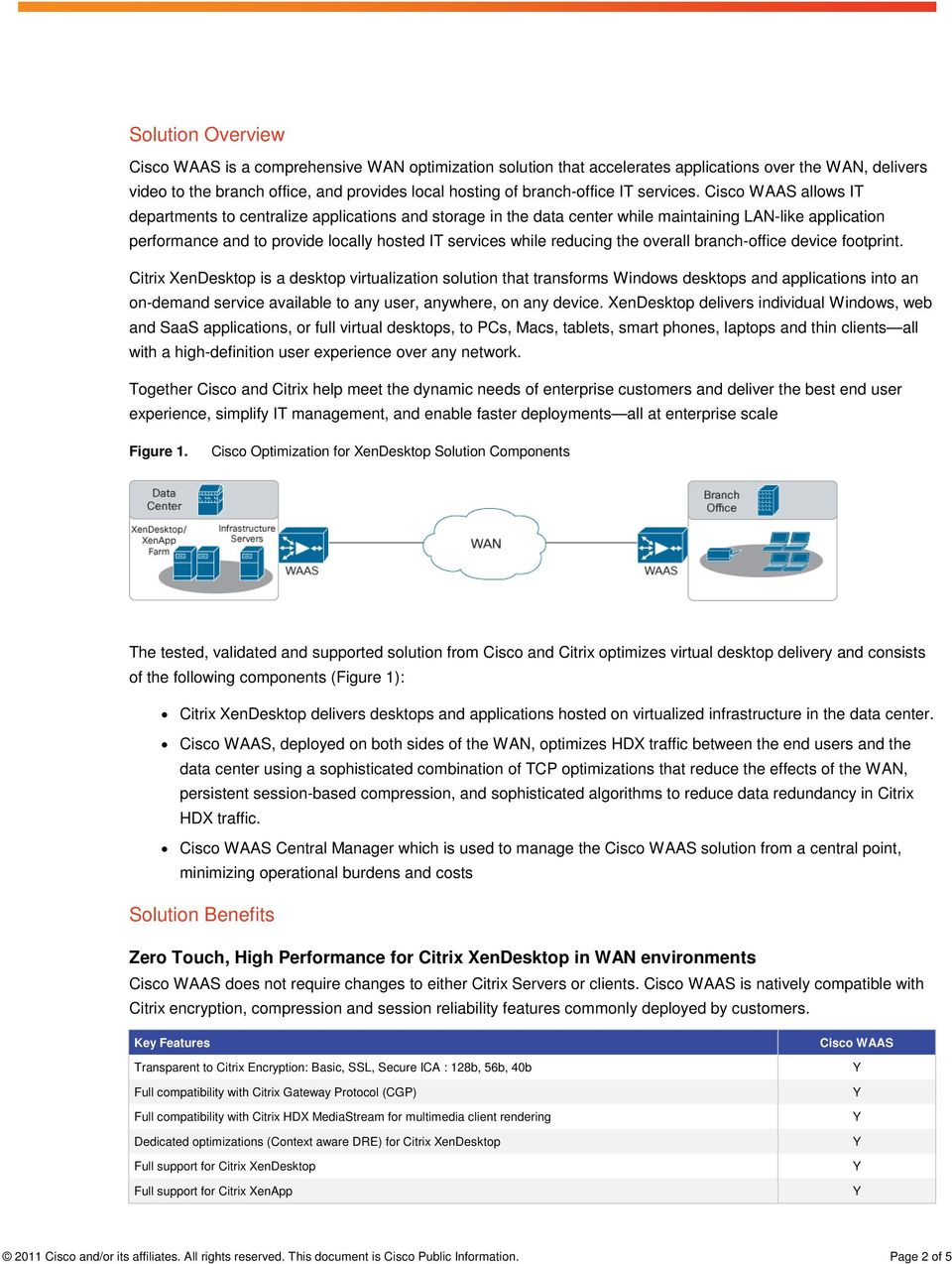 Cisco WAAS allows IT departments to centralize applications and storage in the data center while maintaining LAN-like application performance and to provide locally hosted IT services while reducing