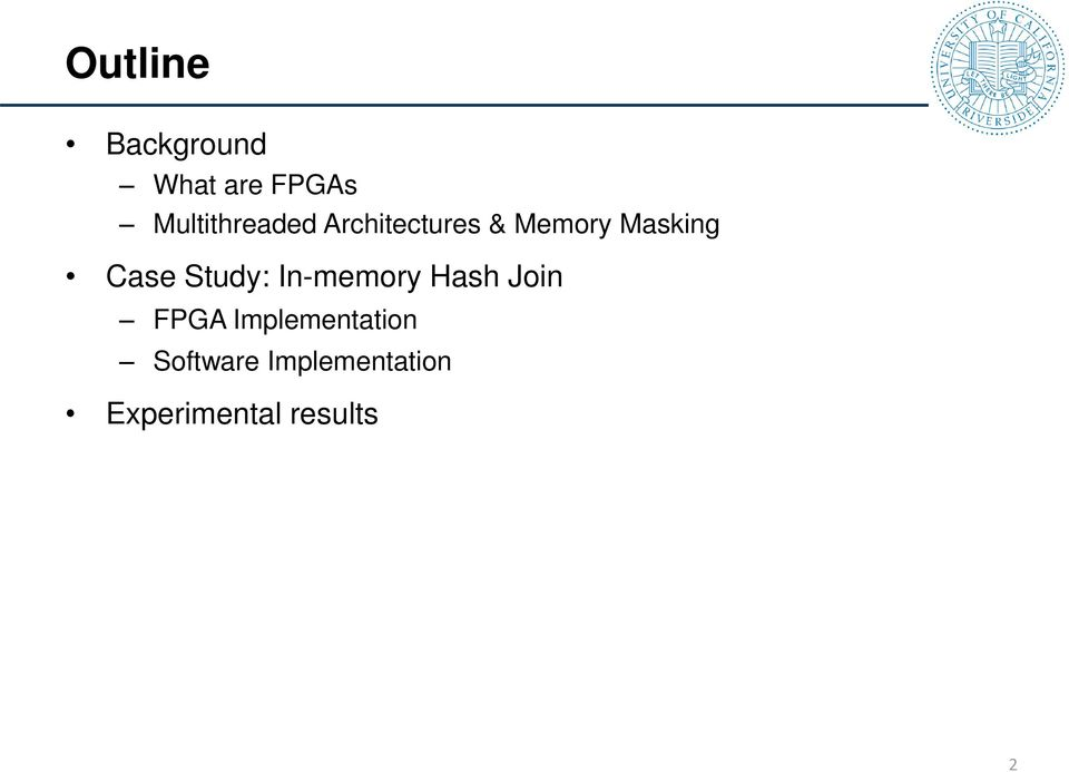 Case Study: In-memory Hash Join FPGA