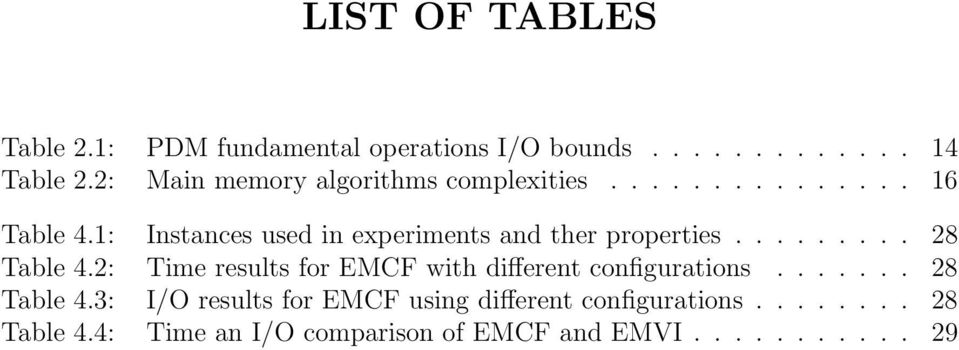1: Instances used in experiments and ther properties......... 28 Table 4.