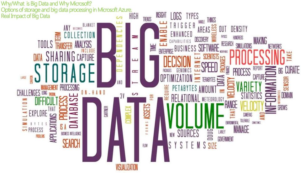 Options of storage and big data