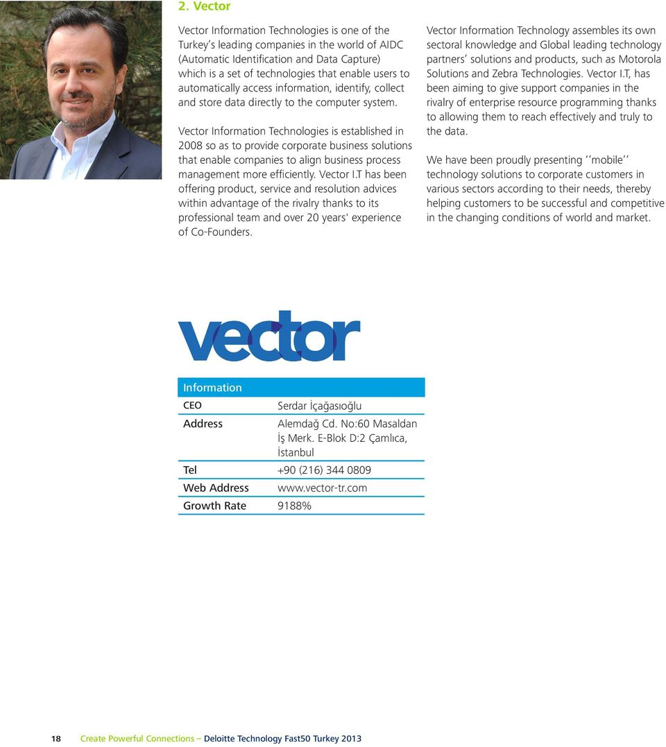 Vector Information Technologies is established in 2008 so as to provide corporate business solutions that enable companies to align business process management more efficiently. Vector I.
