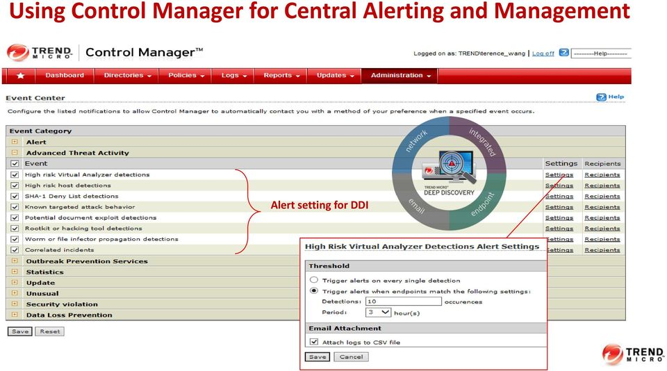 Alerting and