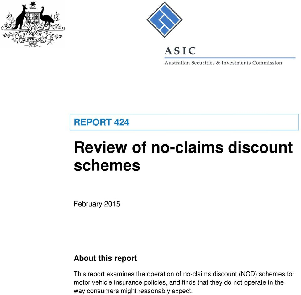 discount (NCD) schemes for motor vehicle insurance policies, and