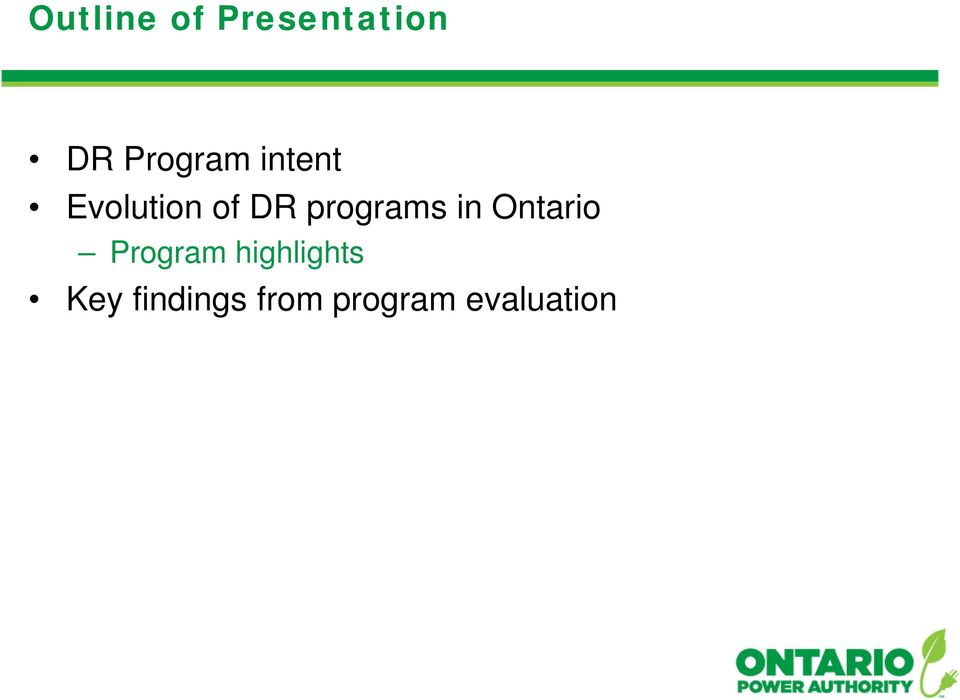 programs in Ontario Program