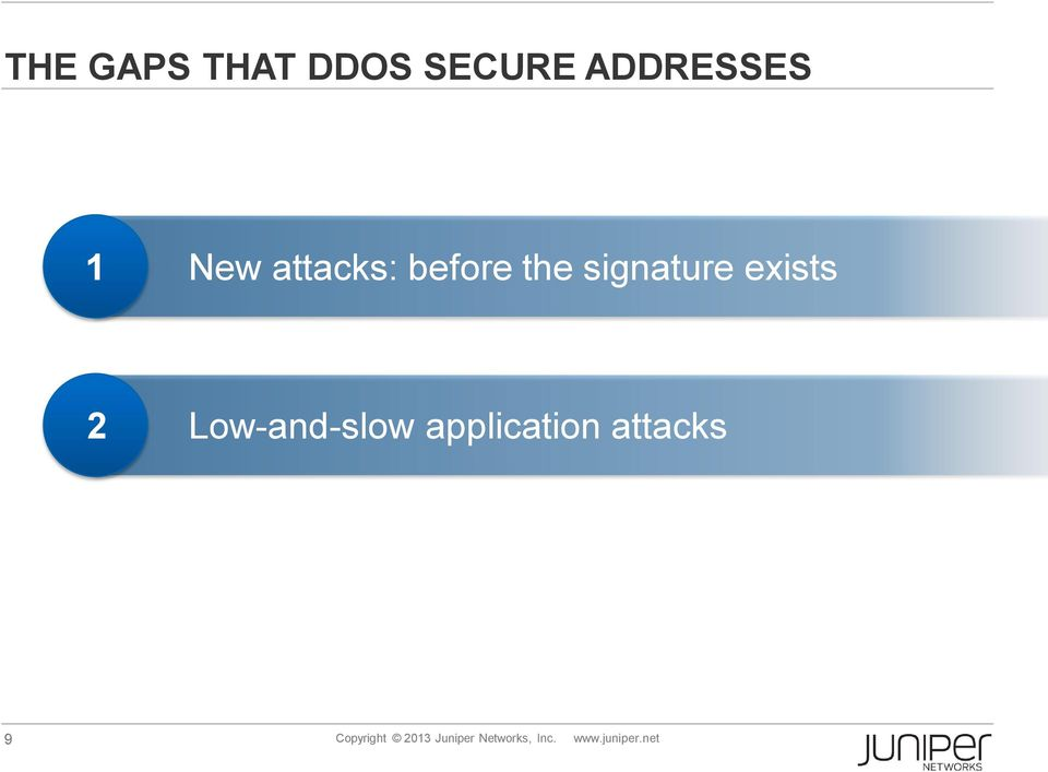 Low-and-slow application attacks 9