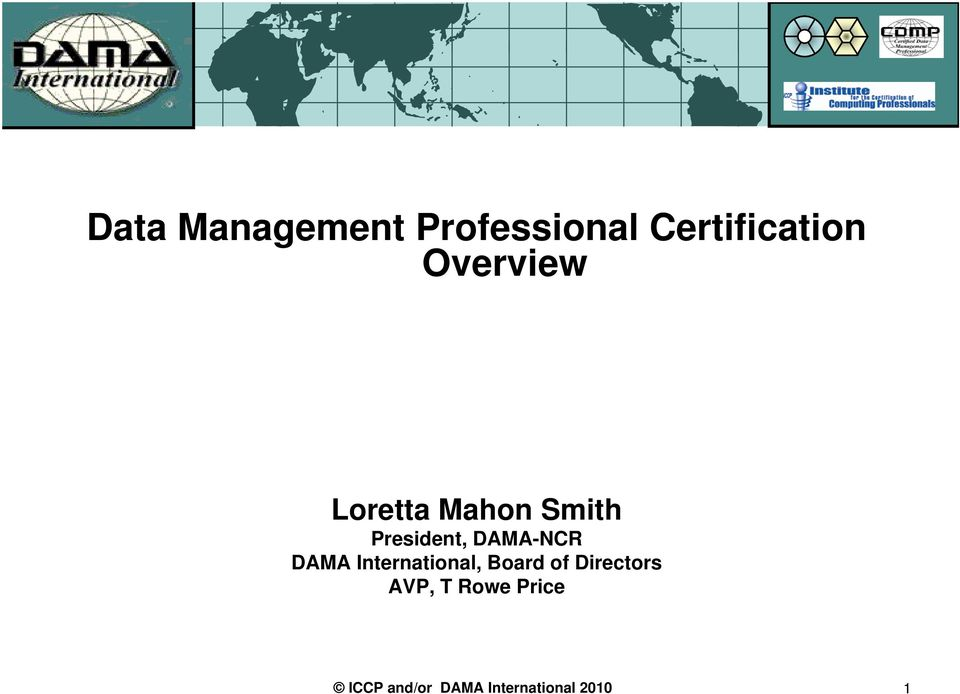 Data Management Professional Certification Overview Pdf