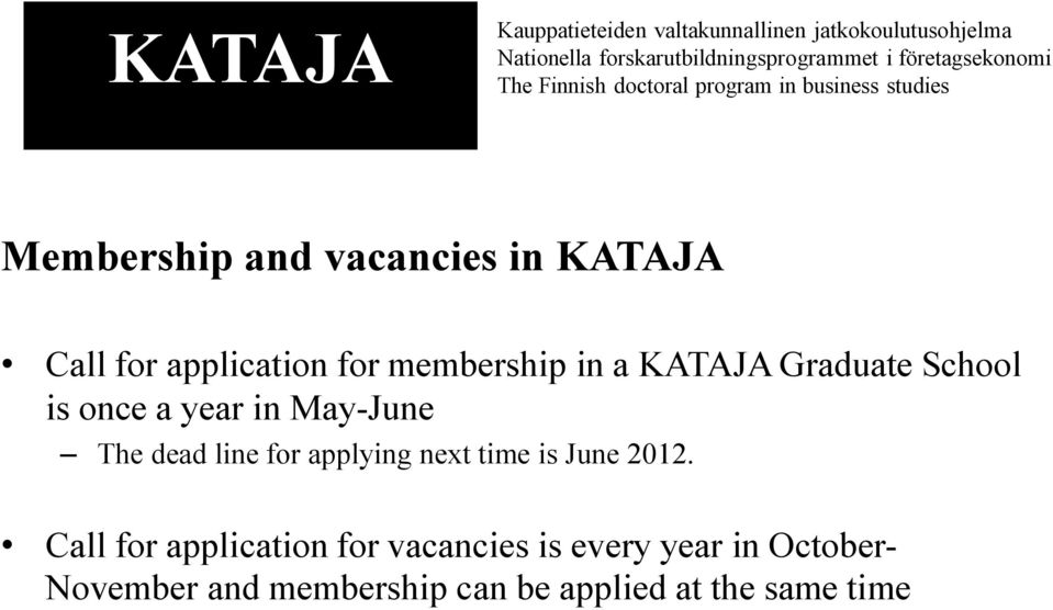 applying next time is June 2012.