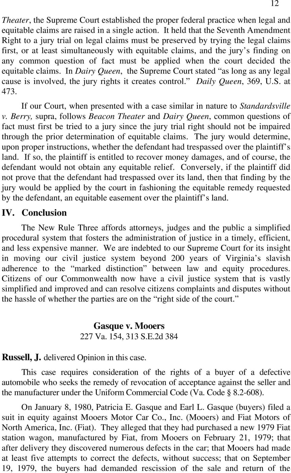 on any common question of fact must be applied when the court decided the equitable claims.