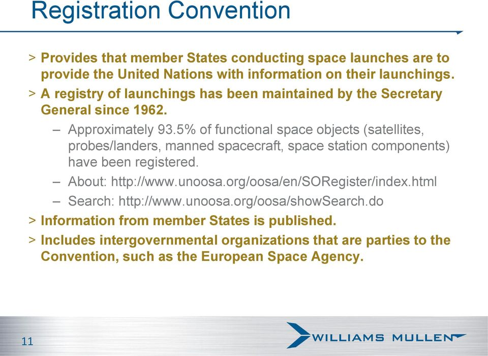 5% of functional space objects (satellites, probes/landers, manned spacecraft, space station components) have been registered. About: http://www.unoosa.