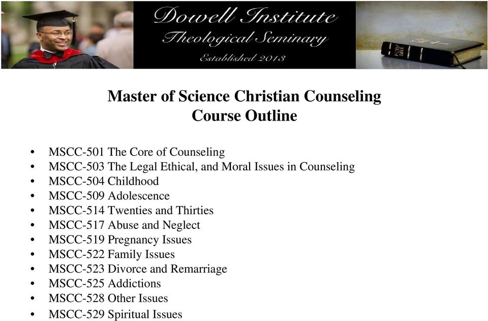 Christian Counseling yale course catalog