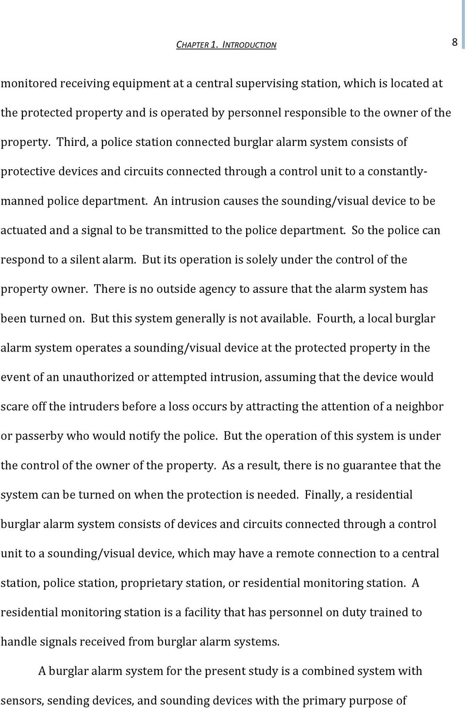 The Impact Of Home Burglar Alarm Systems Pdf Circuits Third A Police Station Connected System Consists Protective Devices And
