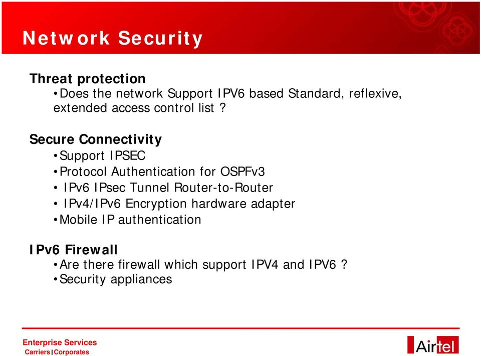 Secure Connectivity Support IPSEC Protocol Authentication for OSPFv3 IPv6 IPsec Tunnel