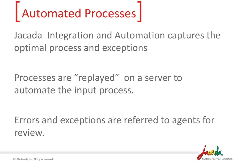 Processes are replayed on a server to automate the