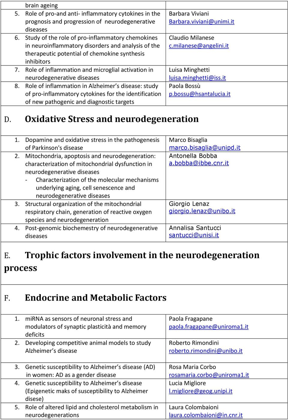 Role of inflammation and microglial activation in neurodegenerative diseases 8.
