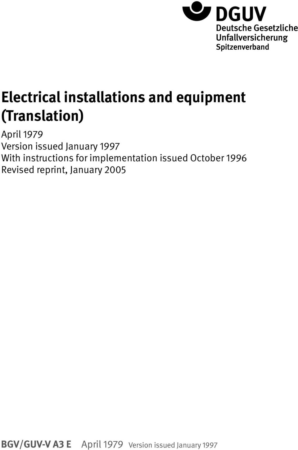 for implementation issued October 1996 Revised reprint,