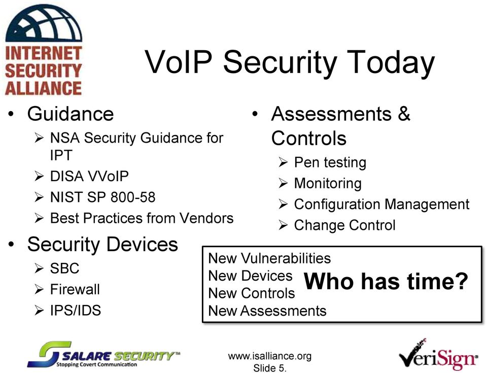 Assessments & Controls Pen testing Monitoring New Vulnerabilities New Devices