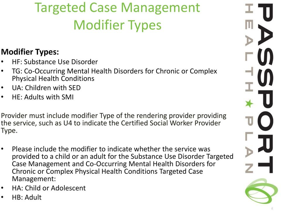 Certified Social Worker Provider Type.