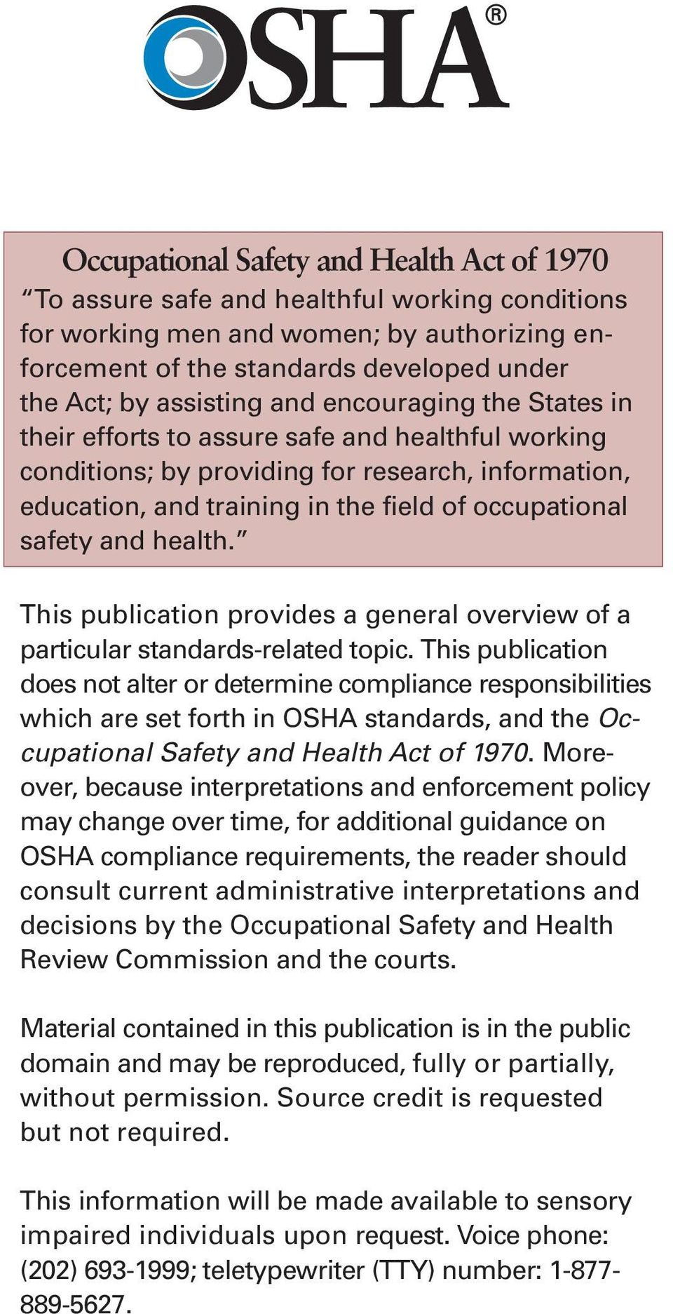 health. This publication provides a general overview of a particular standards-related topic.