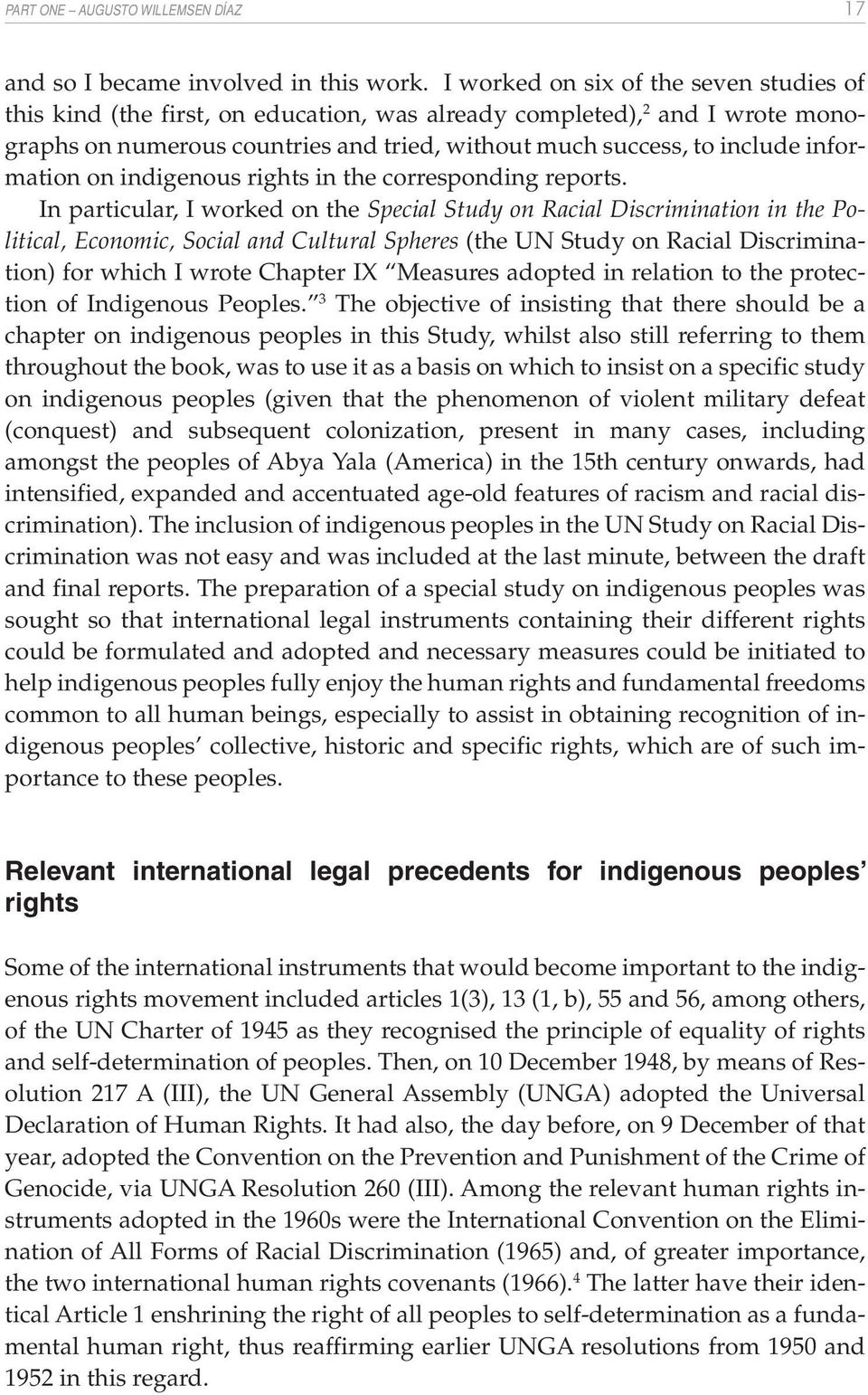 information on indigenous rights in the corresponding reports.