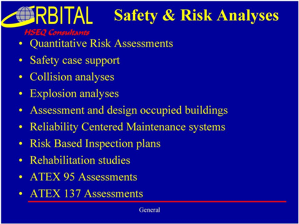 occupied buildings Reliability Centered Maintenance systems Risk Based