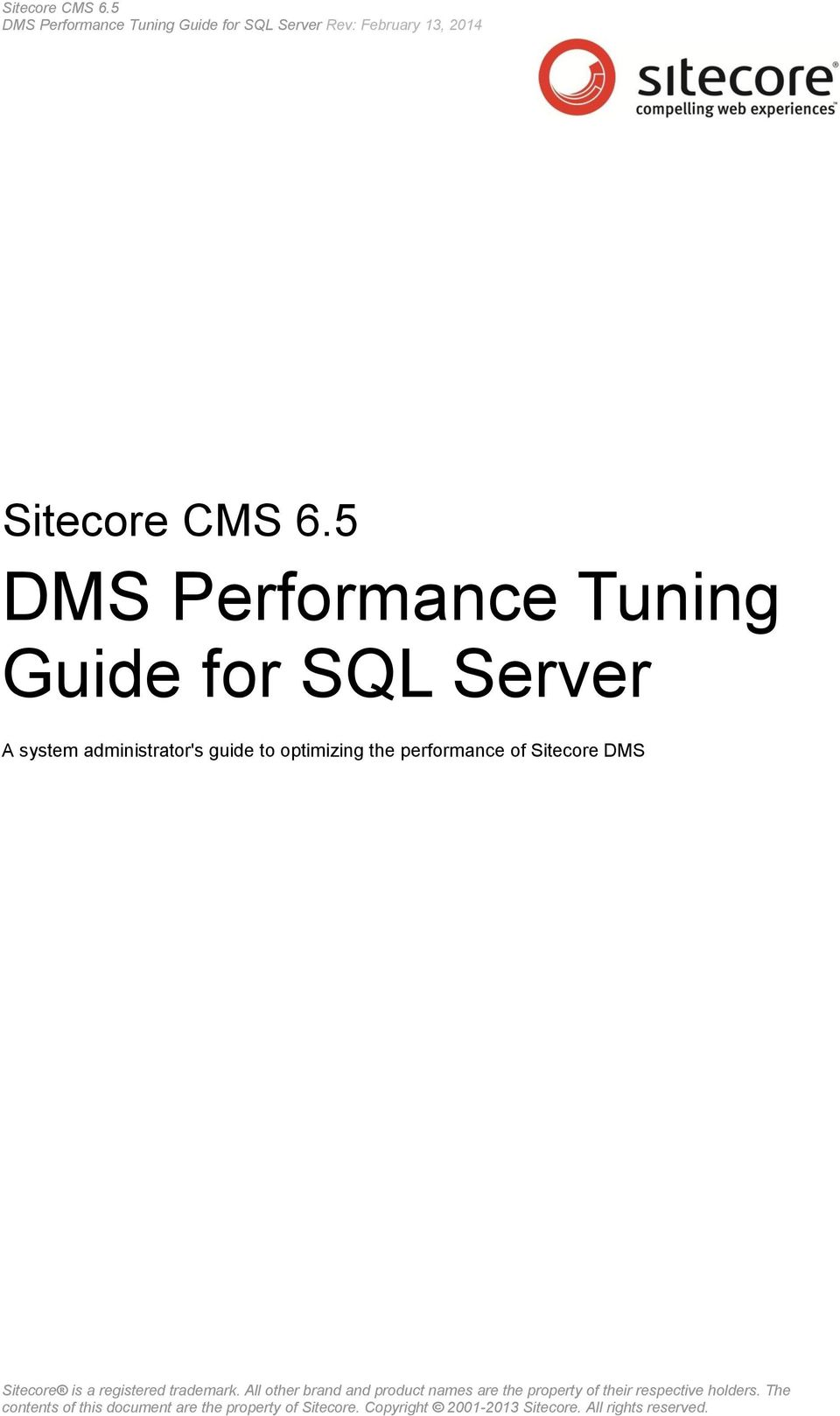 5 DMS Performance Tuning Guide for SQL Server A