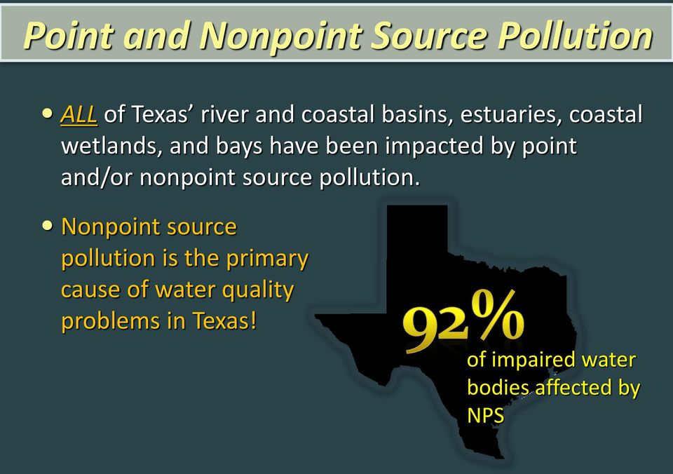 nonpoint source pollution.