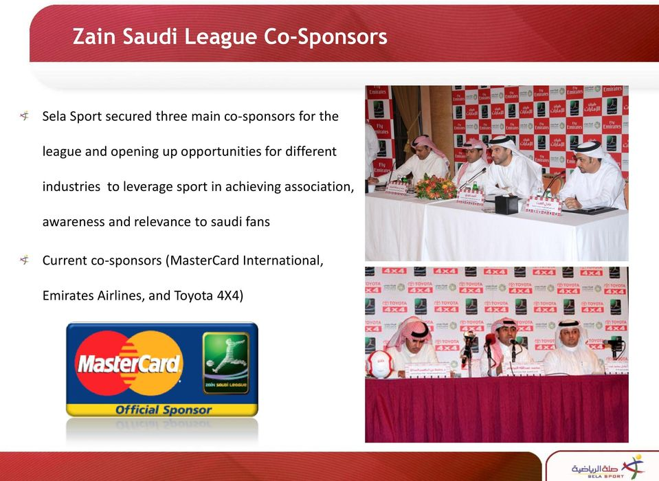 leverage sport in achieving association, awareness and relevance to saudi
