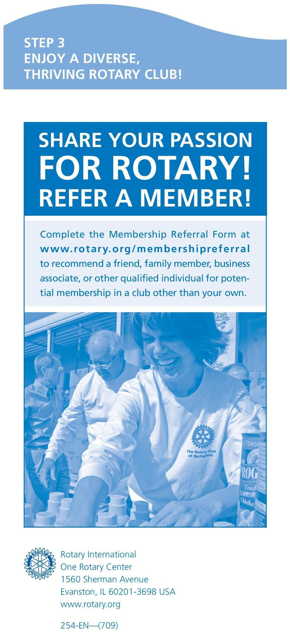 org/membershipreferral to recommend a friend, family member, business associate, or other qualified