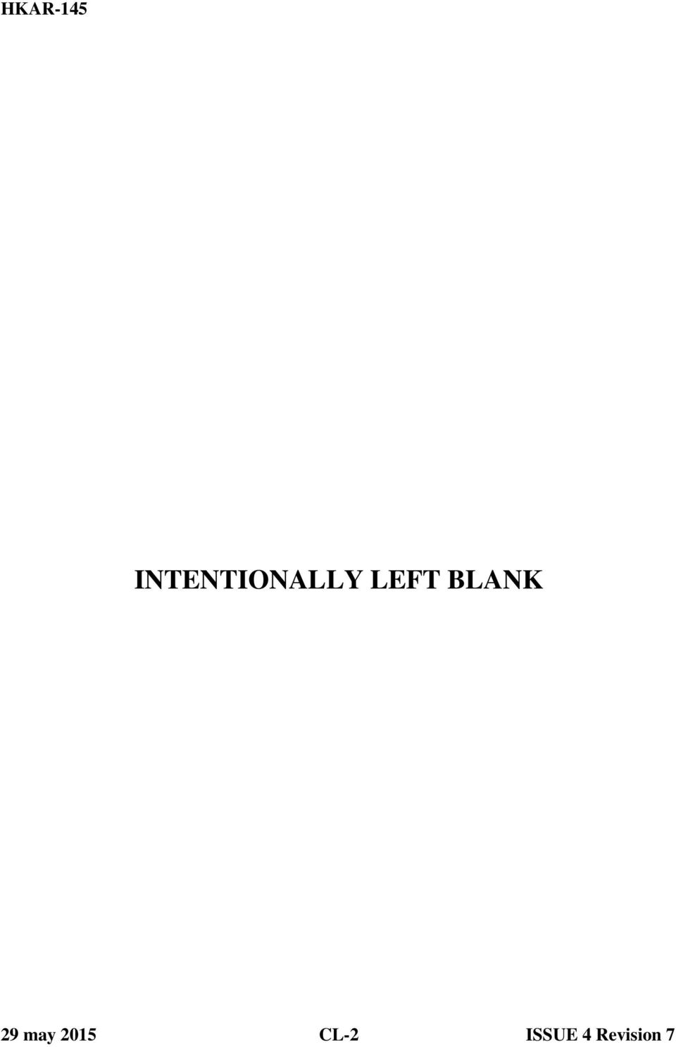 LEFT BLANK 29 may