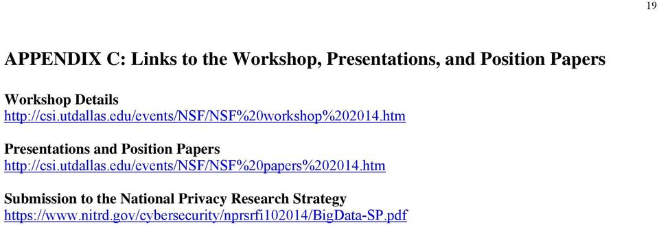 htm Presentations and Position Papers http://csi.utdallas.