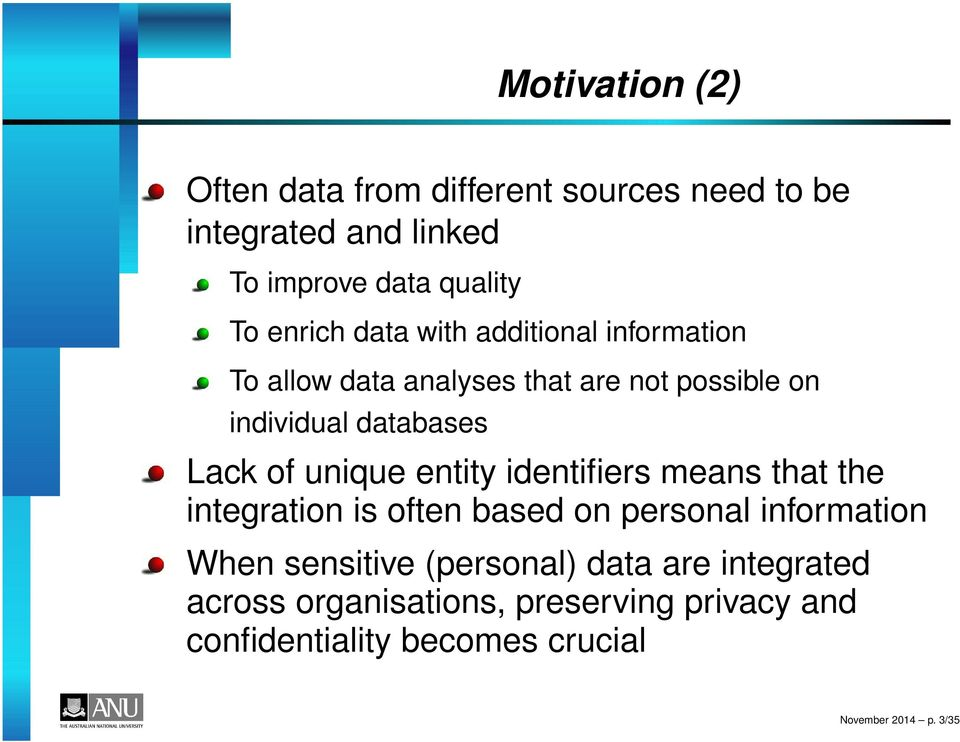 unique entity identifiers means that the integration is often based on personal information When sensitive
