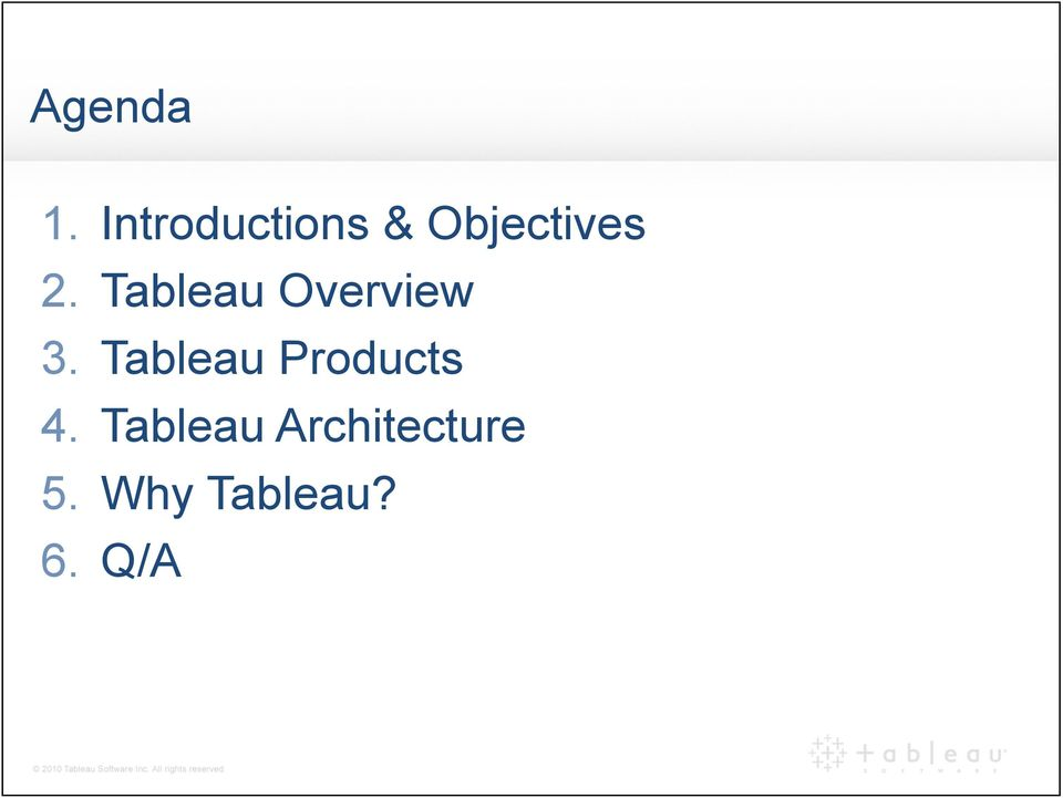 Tableau Overview 3.