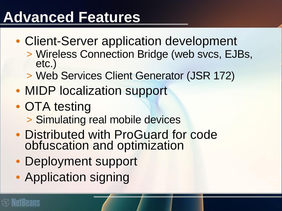 ) > Web Services Client Generator (JSR 172) MIDP localization support OTA