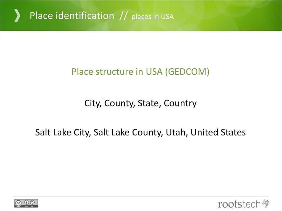 County, State, Country Salt Lake