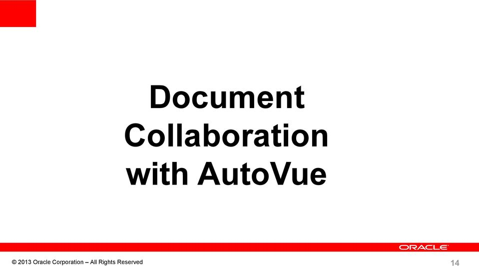 AutoVue 2013 Oracle