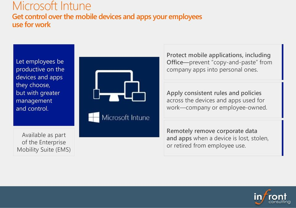 Protect mobile applications, including Office prevent copy-and-paste from company apps into personal ones.