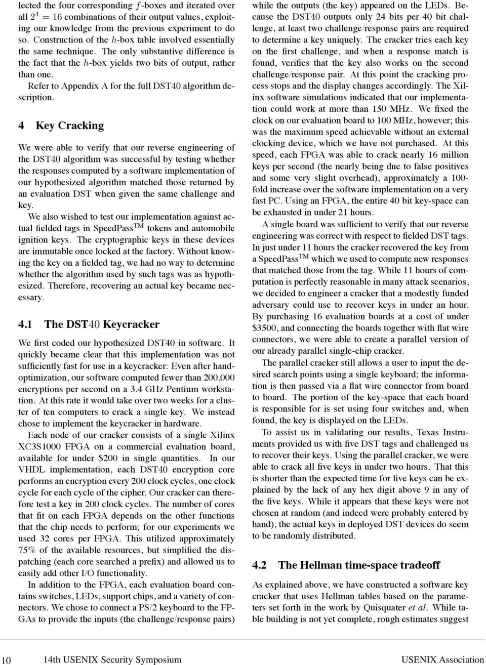 Refer to Appendix A for the full DST40 algorithm description.