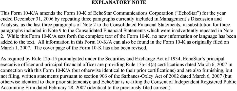 Financial Statements which were inadvertently repeated in Note 2. While this Form 10-K/A sets forth the complete text of the Form 10-K, no new information or language has been added to the text.