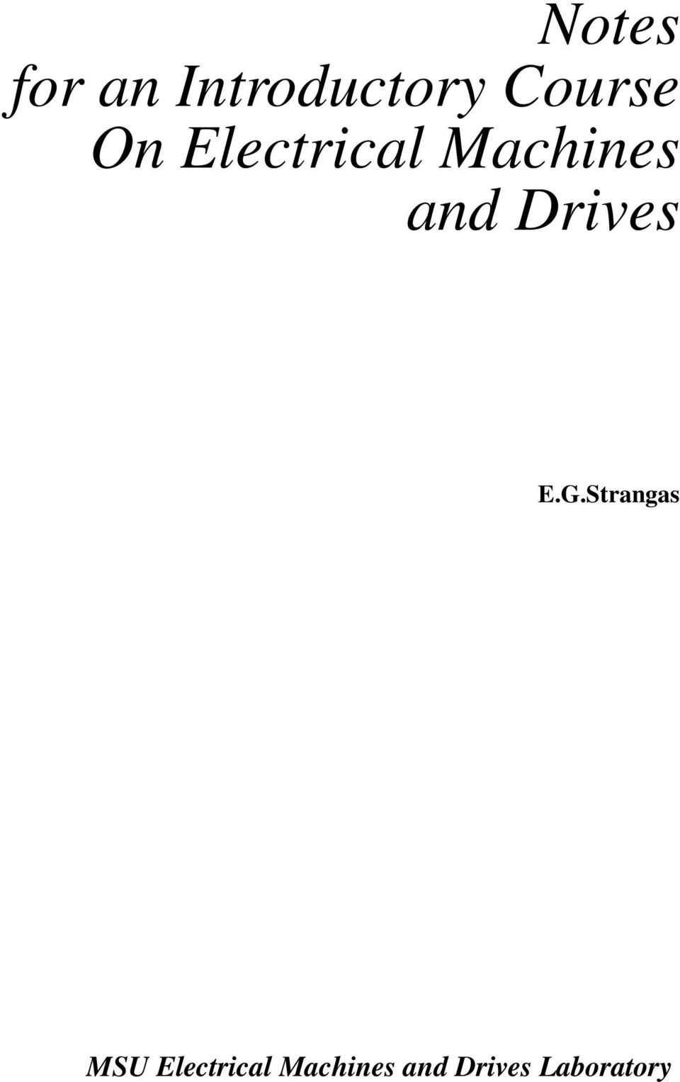 Short Circuit Test Of Transformer Calculations Pdf Wiring Diagram Open And E G Strangas Msu Electrical Machines Drives Laboratory
