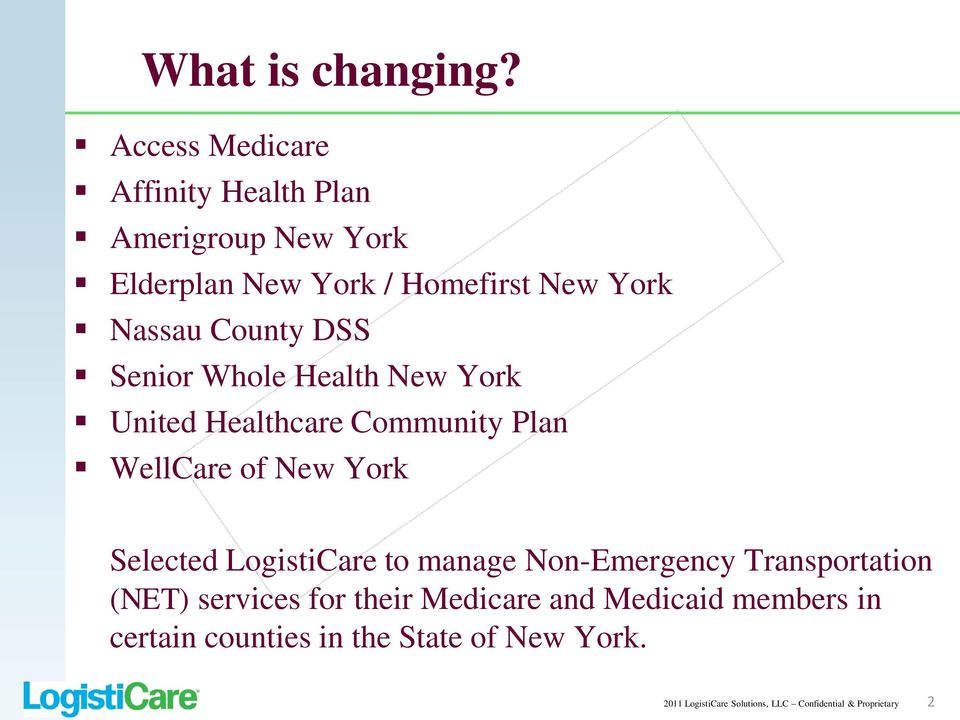 County DSS Senior Whole Health New York United Healthcare Community Plan WellCare of New York Selected