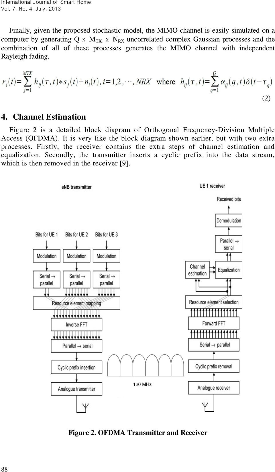 Channel Estimation Figure 2 is a detailed block diagram of Orthogonal Frequency-Division Multiple Access (OFDMA).