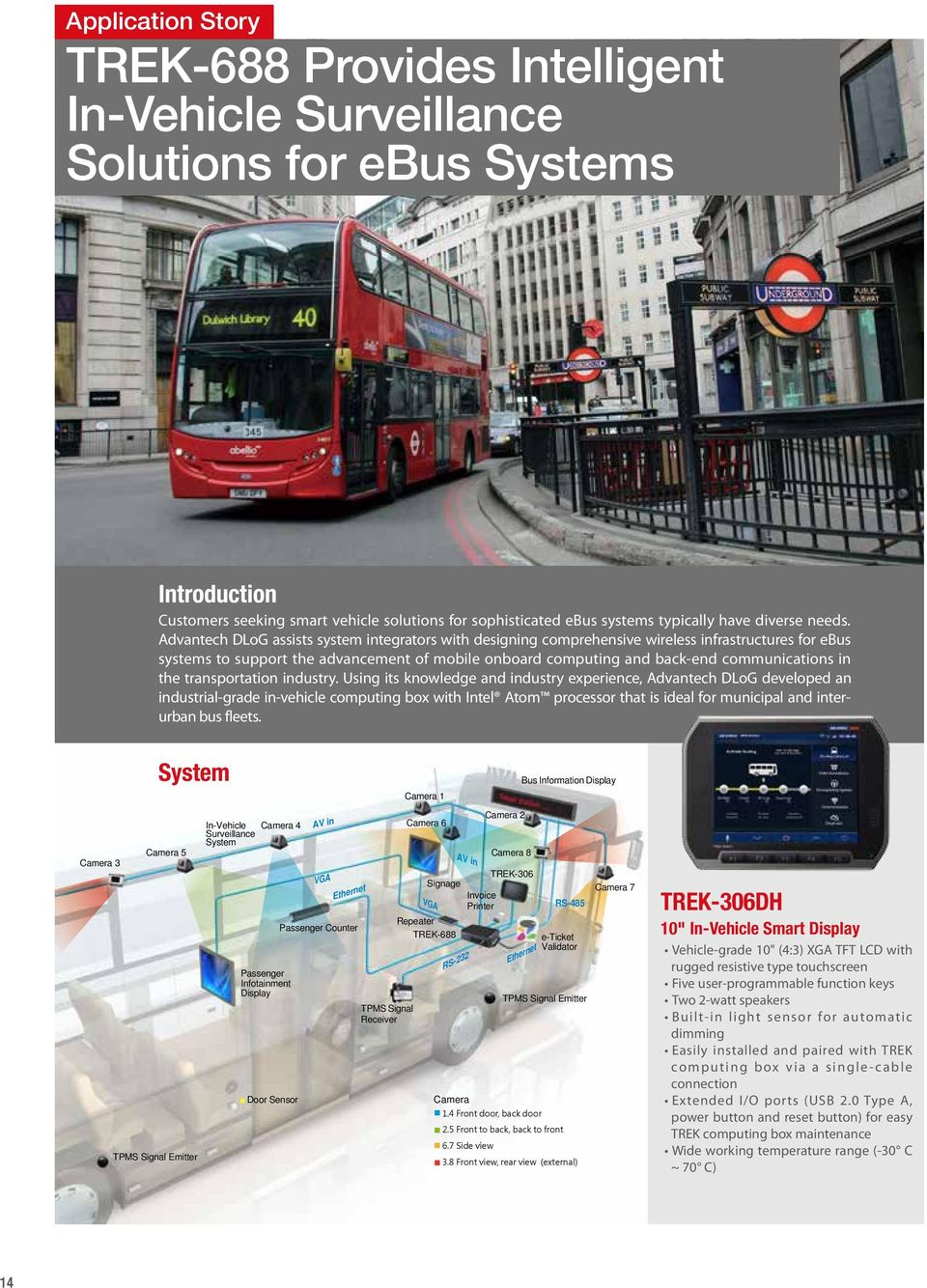 Advantech DLoG assists system integrators with designing comprehensive wireless infrastructures for ebus systems to support the advancement of mobile onboard computing and back-end communications in